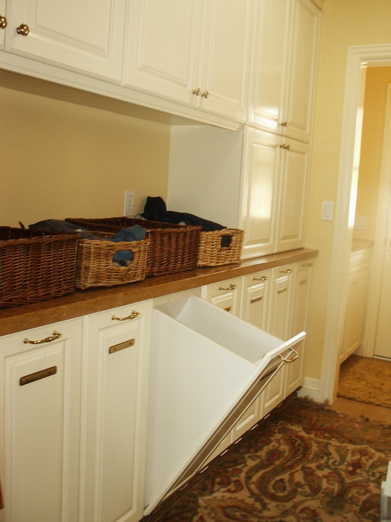 Laundry Room With Pullout Hamper