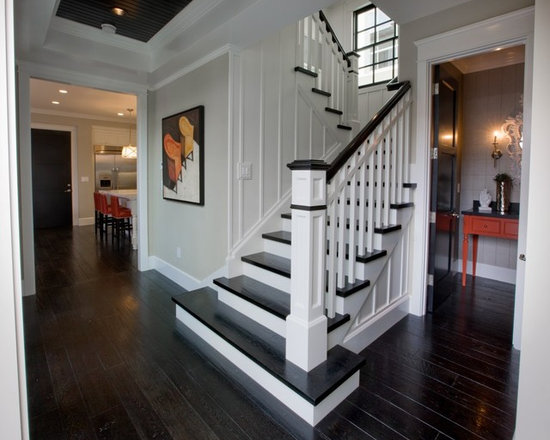 Entry Hall Stairs And Powder Bath