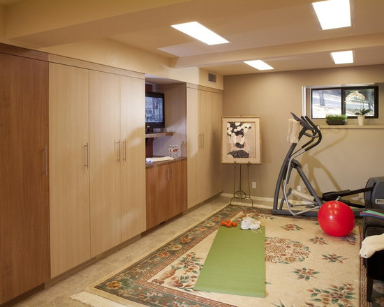 Basement Yoga Area