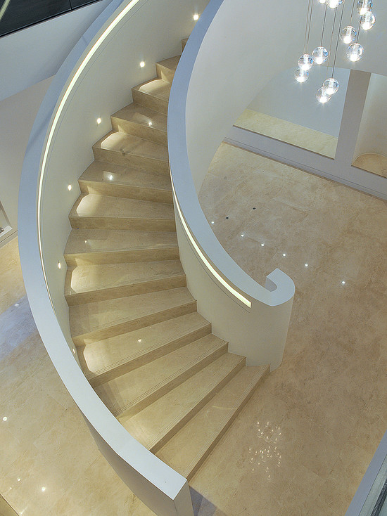 Elite Metalcraft Project Helical Staircase And Glass Balustrade